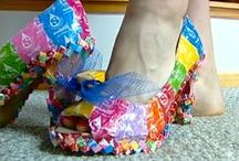 RECYCLED CLOTHING / CLOTHING MADE FROM CANDY WRAPPERS,PLASTIC BOTTLES,NEWSPAPER,ETC.