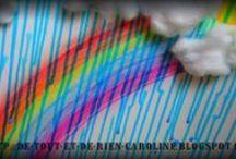 Preschool craft - rain and rainbows