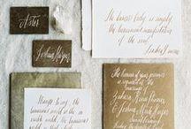 l e t t e r s ~ o f ~ n o t e / calligraphy & stationery