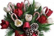 Christmas & Holiday Gifts / Surprise and Delight Them with a Custom Flower Arrangement or Gift from Carithers! Christmas Flowers & Holiday Table Centerpieces.