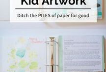 Kids' Memorabilia / Ideas to store or display your kids' artwork, awards, t-shirts