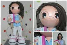 Fofuchas Punt i Goma / Muñecas personalizadas hechas a mano con goma eva, foam, pinturas...