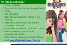 At School / At School provides parents and children with awareness and prevention tips from violence, bullying, to transportation to and from school.