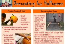 Halloween Safety / Pro Consumer Safety provides Halloween Safety tips on decorating safety, costume planning, and trick-or-treating on Halloween. Injuries among children happen: 1) Before Halloween:  Injuries from lacerations and puncture wounds from pumpkin carving. And 2) On Halloween: Pedestrian deaths-between the hours of 6:00-7:00pm, during twilight, when it's more difficult for drivers to see children crossing streets. Follow these tips for a fun and safe Halloween. More at http://www.procarseatsafety.com/halloween.html #DrSafety