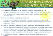 Summer Day Camp Checklists  / Summer day camps offer an excellent opportunity for your child to learn various types of activities from science, gymnastics, swimming, general sports, crafts, music, to riding. However parents must know the right questions to ask the camp director to make sure the camp is safe.