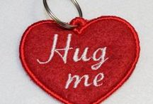 Machine Embroidery ITH Valentine keyrings