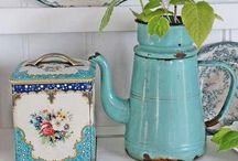 Enamel ware - evocative of a bygone era / Beautiful enamel pots