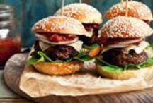 Appetizers Burger Sliders/Sliders / by Mindy Sherwood
