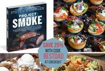 FOOD! Great recipes (and great deals). / The cookbooks featured in our store at Page-A-Day are the BEST in the business. Year-round recipes, treats, desserts, barbecue, smoking, and creative healthy meals for the whole family.