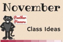 November Class Ideas