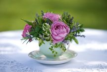 Tea Cup Flower Arrangements