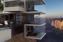 Modern architecture / Dream homes and interior decor... You hardly find these types in South Africa... I just ❤️ them!