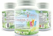 Spring Vitality Omega 3 Supplement / Omega-3 Softgels by Spring Vitality - For Adults, Teens & Kids - High Dose Omega 3 Supplement With EPA and DHA That Make Miracles For Your Health - Best Omega 3 Supplement With Amazing Natural Lemon Flavor - 60 Softgels