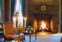 ⊱◦ fireside warmth ◦⊰  / ƑḮℜℇᎦḮᙌℇ warmth: Beautiful fireside living areas to stay cozy and warm on a long winter's night!