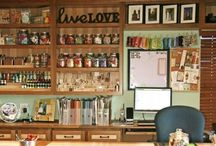 Craft room storage and lay out ideas / by Ericka Felker