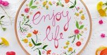 Crafts: Embroidery + Stitching / Embroidery and cross stitch patterns and project ideas along with tips, tricks, and inspiration!