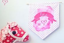 Buntings & Pennants / Pennants & Buntings are a great way to add personality to a blank wall