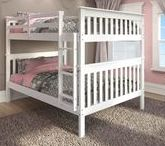 ❤ Girls Bedroom Ideas / Love designing girls rooms :)  See more ideas for bunkbeds, loft beds & twin beds perfect for your daughter's room at https://www.customkidsfurniture.com/collections/kids-bed-with-slide