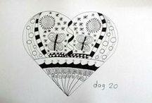 30 Days- challenge Zentangles