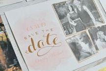Wedding : invitations & menus / Wedding menus and invitations DIY ideas & inspirations / idées et inspirations menus et invitations de mariage