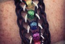 rainbow loom ideas / by Christine Schneider