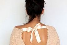 Fashion: All Tied Up / A board of fabulous fashion accessorizing with ribbons + bows.