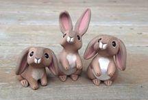 Polymer clay animals / DIY polymer clay / fimo animals / animaux