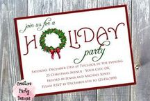 Holiday Party / Get ready for your holiday party!  Holiday party invitations, food, drinks, outfits, and decor!  Get in that holiday spirit and enjoy!  Please add pins that fall only within the Christmas party theme.