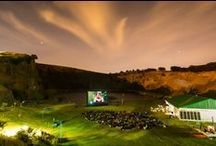 Outdoor Cinema / Experience the magic of outdoor movies at Hillcrest Quarry every Tuesday evening for a memorable movie experience under a ceiling of stars!