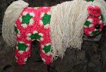 Kwiat Afrykanski / zabawki wykonane na szydełku z motywów afrykanskich