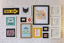 Walls : painting, frames, print ideas, display / For the wall : painting, frames, display and print ideas