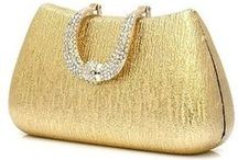 Handbags - Gold & Glitter / All golden and shiny handbags, purses and clutches