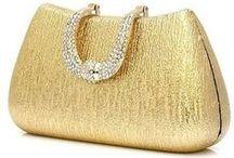 Handbags - Metallics / All golden silver and shiny handbags, purses and clutches