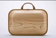 Handbags - wooden / Handbags from wood, or with wooden handles