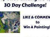 Acrylic Pour Art Challenge / Acrylic Pour experiment chalenge