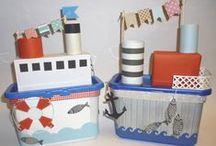 Bag, paper toilet roll and recicle / Borse e scatoline