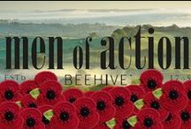 MEN OF ACTION - BEEHIVE / Inspired by Air Land & Sea past times and archival Beehive military knitting patterns  #BeehiveMOA