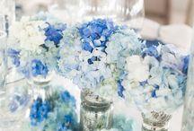 Something borrowed something ... / Blue wedding decor to inspire