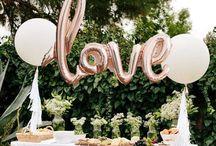 Rose gold romance / Wedding decor ideas with Rose Gold