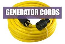 Generator Power Cords / A full selection of generator cords that fit most locking / straight blade outlets and transfer switches. We carry almost all 3 prong and 4 prong applications.  Full Line: http://www.conntek.com/list.asp?classId=10
