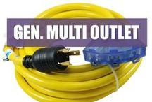 Generator Multi Outlet Cords / These cords are designed to take outlets on your generator and split them into 15A 110v household outlets. Great to power appliances temporarily.