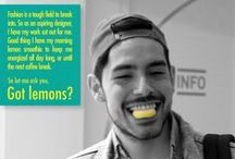 Got lemons?  / Posters realized for a mini event at IED Fienze. The rest of pictures are on our Facebok page.