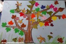 Otoño, Naturaleza / Estación de Otoño, caída de la hoja, Actividades con hojas, cáscaras, nueces... (naturaleza)