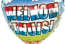 Welkom Thuis Feestartikelen / Komt een dierbare na lange tijd weer thuis of naar Nederland? Doe hier leuke ideeën op zoals welkom thuis ballonnen, slingers en meer.
