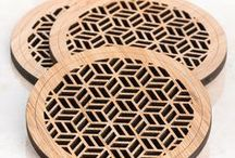 Laser Cutting Ideas / Laser cutting and laser etching ideas. Laser cutting and folding patterns for paper, card, laser cut leather and laser cut wood. Etched wooden jewellery and DIY inspiration.