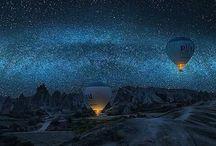 Sun ~ Moon ~ Stars / Sun, moon, stars, moon & landscapes
