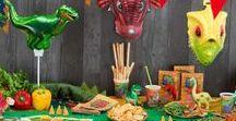 Dinosaurus Verjaardagsfeestje / Alle benodigdheden voor een kinderfeestje in het thema Dinosaurus. Van versiering tot tafelgerei en meer.