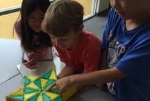 Kids having fun with geometry / Math you can build and wear