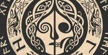 runes, etching, ex libris