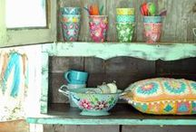 Boho and Cute Spaces / Boho spaces and teeny beautiful ones...